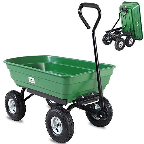 Carretilla para jardineria verde